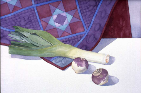 Leek and turnips… and Anne's quilt