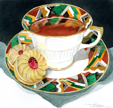 Deco Cup and Saucer